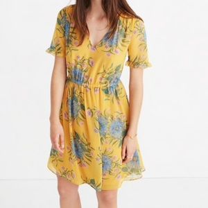 Madewell painted blooms yellow dress 6